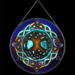 Tree of Life Blue Stained Glass