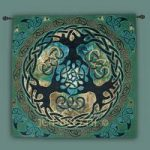 "World Tree ""Yggdrasil"" Fine Art Tapestry 40""x40"""