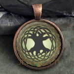Glass Domed Tree of Life-Round