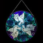 Doves White Version Stained Glass