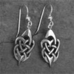 Silver Tribal Heart Earring