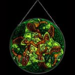 Horses Green/Green Version Stained Glass