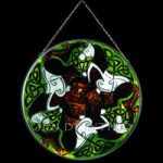 Horses Green/White Version Stained Glass